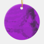 Abstract violet christmas tree ornament