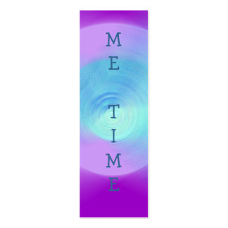 Abstract Violet Lens ME TIME book mark Business Cards