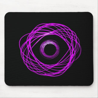 Abstract Violet Physiogram Light Effect Mousepad