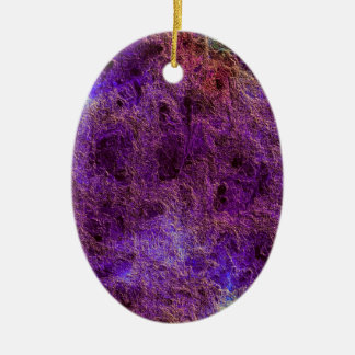 Abstract Violet Purple Oval Ornament