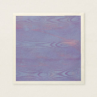 Abstract violet wood textured Paper napkins
