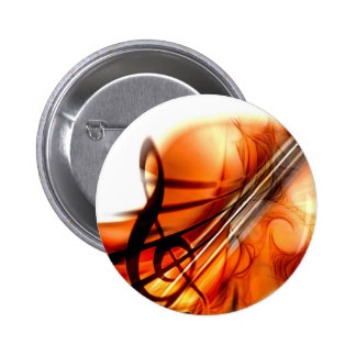 Abstract Violin Art Button