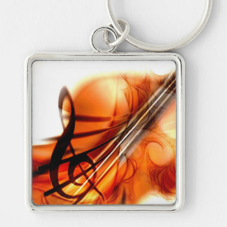 Abstract Violin Art Keychain