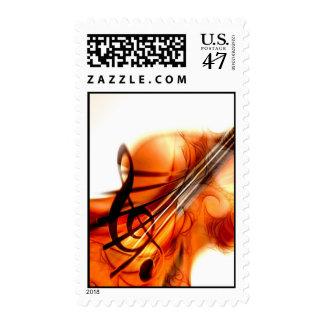 Abstract Violin Art Postage