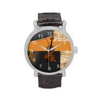 Abstract Violin Design Wristwatch
