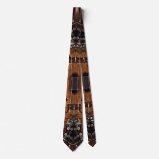 Abstract Violin Patterned Tie