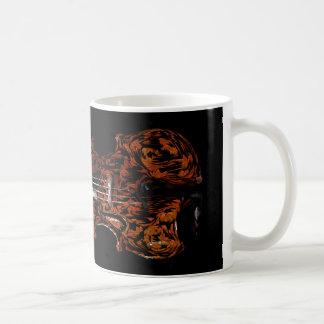 Abstract Violin/Viola Design on a Mug