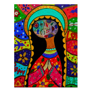 ABSTRACT VIRGIN GUADALUPE POSTCARD