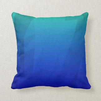 Abstract Virtual Blue Throw Pillow
