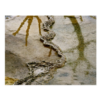 ABSTRACT VOLCANIC DEPOSITS AND MINERALS POSTCARD