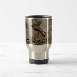 ABSTRACT VOLCANIC DEPOSITS AND MINERALS TRAVEL MUG