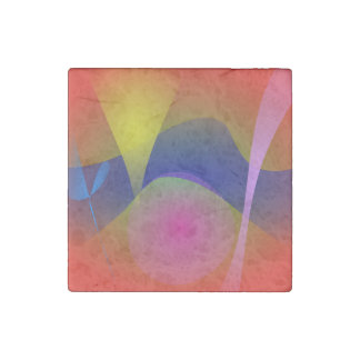 Abstract Volcano Stone Magnet