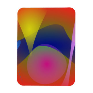 Abstract Volcano Vinyl Magnets
