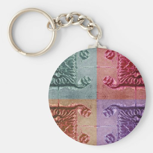 abstract wall art key chain