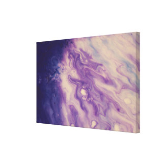Abstract Wall Art-Purple Pour Canvas Print