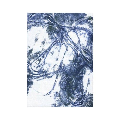 Abstract wall print blue grey canvas wall art