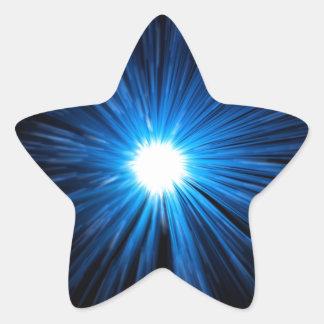 Abstract warp speed. star sticker