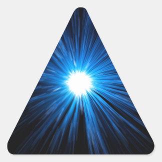 Abstract warp speed. triangle sticker