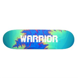Abstract Warrior Letter Skateboard deck