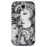 Abstract Warriors Samsung Galaxy S4 Case