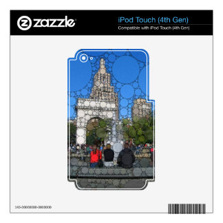 Abstract Washington Square Park New York iPod Touch 4G Decals