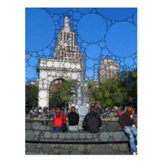 Abstract Washington Square Park New York Postcard