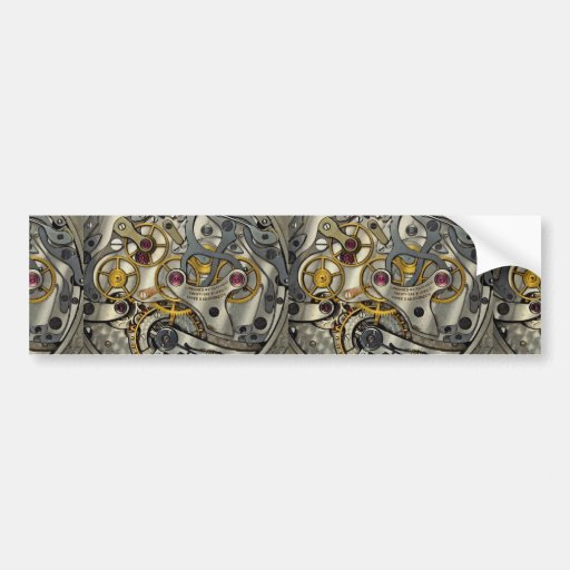 Abstract Watch gears Bumper Stickers