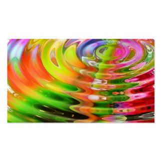 Abstract Water Color Ripples Business Card
