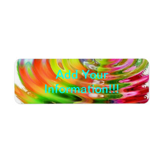 Abstract Water Color Ripples Label
