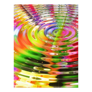 Abstract Water Color Ripples Custom Letterhead