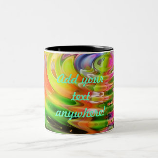 Abstract Water Color Ripples Two-Tone Coffee Mug