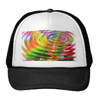 Abstract Water Color Ripples Trucker Hat