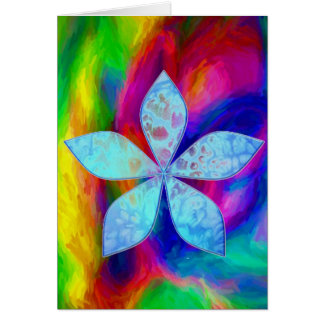 Abstract Water Colors Card