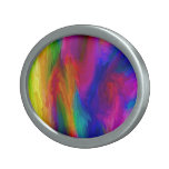Abstract Water Colors Oval Belt Buckle