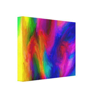 Abstract Water Colors Stretched Canvas