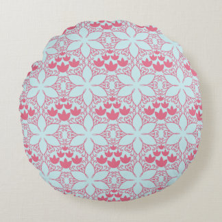 Abstract Water Lilies Round Pillow