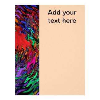 Abstract Water Movement Letterhead