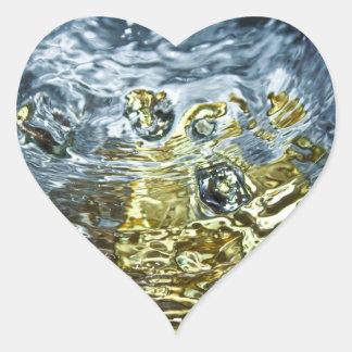 Abstract Water Photograph Heart Sticker