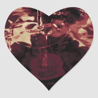 Abstract Water Photograph Heart Sticker