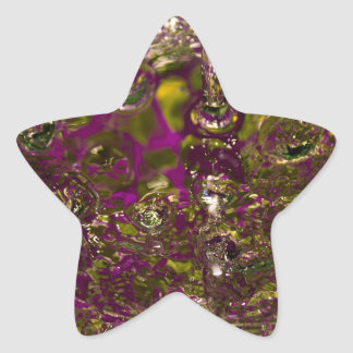 Abstract Water Photograph Star Sticker