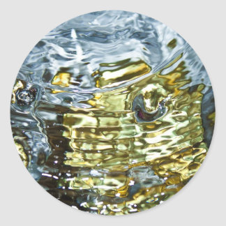 Abstract Water Photography Classic Round Sticker