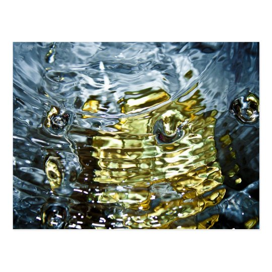 Abstract Water Photography Postcard