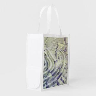 Abstract Water Ripples Reusable Bag Market Totes