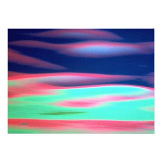 Abstract water texture custom invites