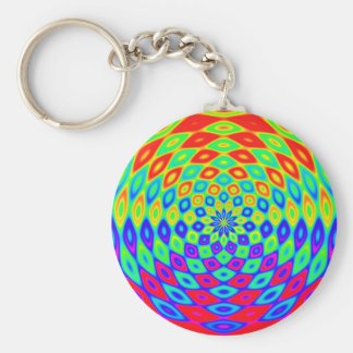 Abstract Water Wave Rainbow Keychain