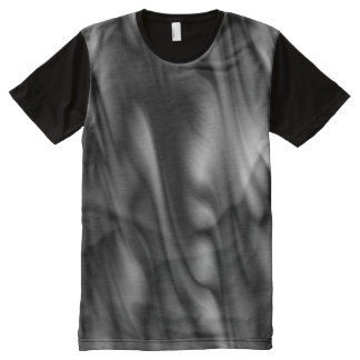 abstract water Waves - black + your ideas All-Over-Print T-Shirt