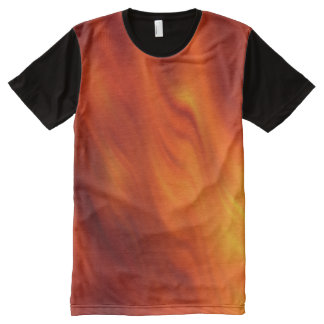 abstract water Waves - fire red + your ideas All-Over Print T-shirt