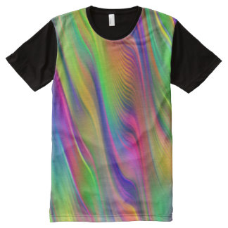 abstract water Waves - neon colored + your ideas All-Over-Print Shirt