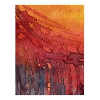 Abstract watercolor 3 postcard