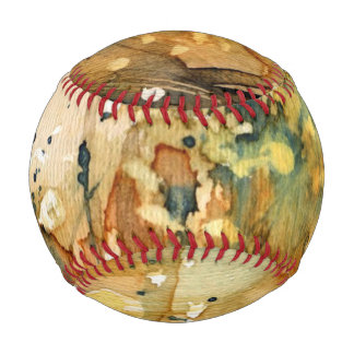 Abstract watercolor and old background baseball